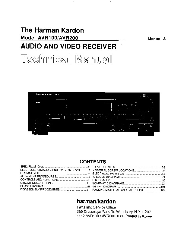 harman kardon avr 10 service manual free download rh servicemanuals us Harman Kardon AVR 630 Harman Kardon AVR 3700