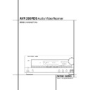 Harman Kardon AVR 200 (serv.man2) User Guide / Operation Manual