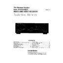 Harman Kardon AVR 200 (serv.man9) Service Manual