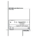 Harman Kardon AVR 2000 (serv.man11) User Guide / Operation Manual