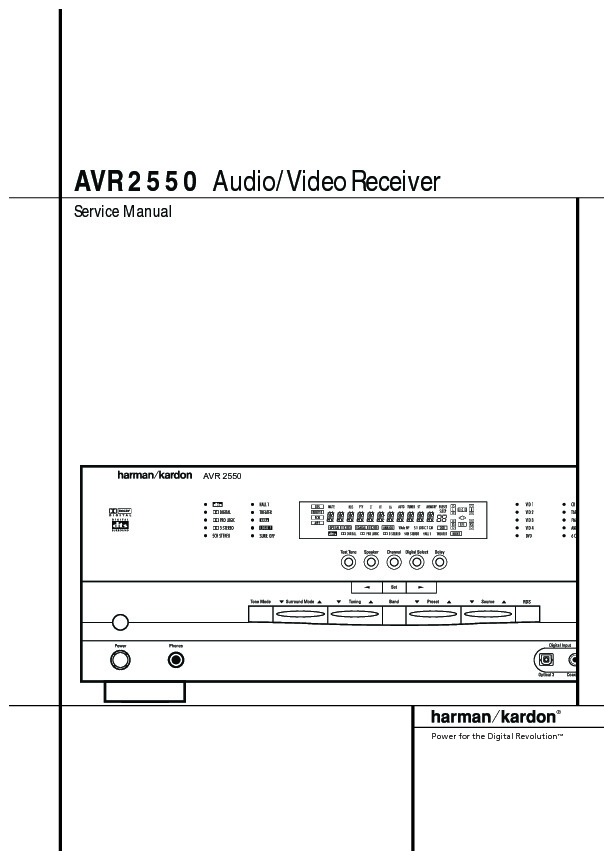 harman kardon avr 255 serv man6 technical bulletin free download rh servicemanuals us harman avr 255 service manual Parts Manual