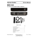 Harman Kardon BDS 535 Service Manual