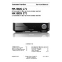 Harman Kardon BDS 570 Service Manual
