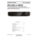 Harman Kardon BDS 580S (serv.man2) Service Manual