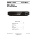 Harman Kardon BDS 580S Service Manual