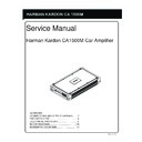Harman Kardon HK CA1500M Service Manual