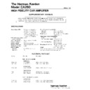 Harman Kardon HK CA260 (serv.man2) Service Manual