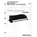 Harman Kardon HK CA260 Service Manual