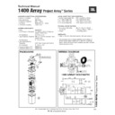 JBL 1400 ARRAY Service Manual