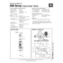 JBL 800 ARRAY Service Manual