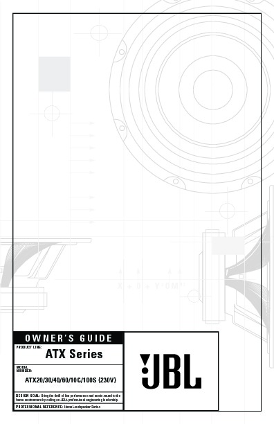 jbl atx 20  serv man2  user guide    operation manual