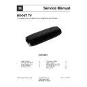 JBL BOOST TV Service Manual