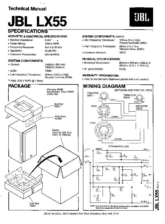 Jbl Lx 55 Service Manual