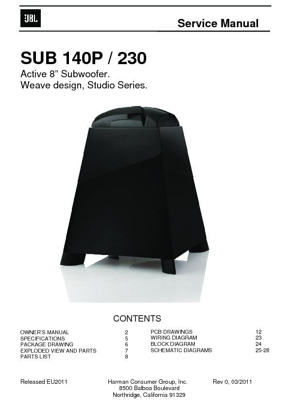 Jbl Sub 140 Service Manual