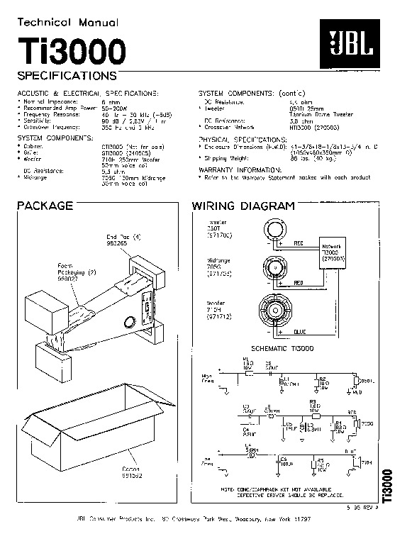 jbl ti 3000  serv man2  service manual