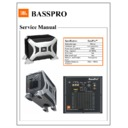 JBL BASSPRO (serv.man3) Service Manual