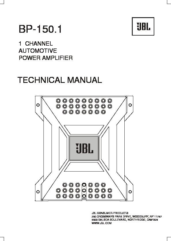 Jbl Amp Bp Wiring Diagram on