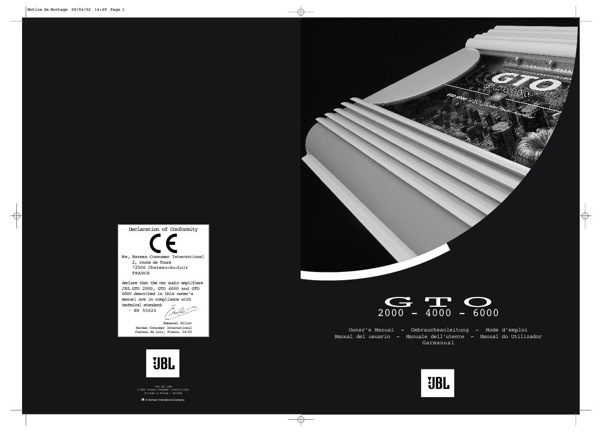 JBL GTO 2000 (SERV.MAN2) Service Manual - FREE DOWNLOAD Jbl C Wiring Diagram on