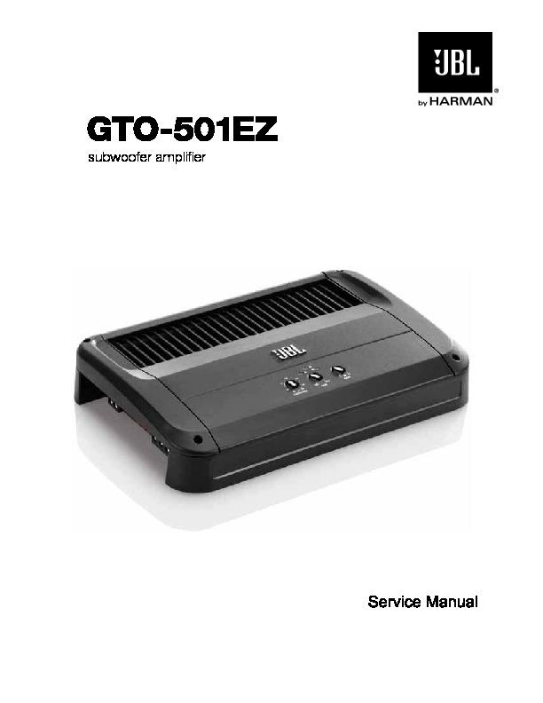 jbl gto 501ez service manual free download rh servicemanuals us