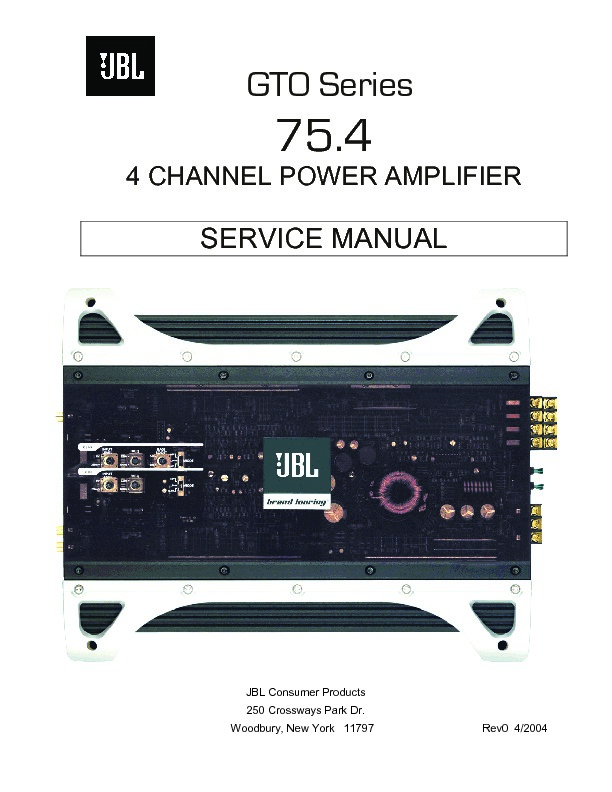 jbl gto 75 4 service manual free download rh servicemanuals us JBL Home Amplifiers jbl car amplifier service manual pdf