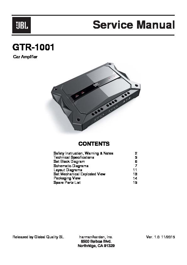 jbl gtr 1001 service manual free download rh servicemanuals us JBL Power Amplifier jbl car amplifier service manual pdf