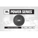 JBL P1020e User Guide / Operation Manual