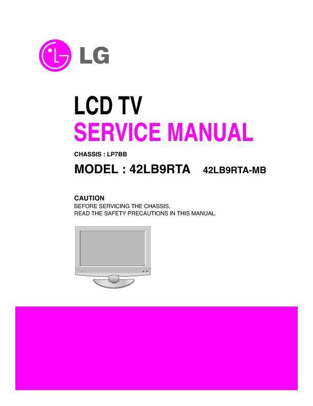 lg 42ld421 426 42ld421 426 zb lcd tv service manual