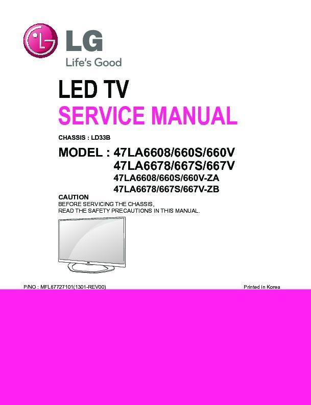 Lg 47la667s Service Manual And Repair Guide EBook @ 9 ...