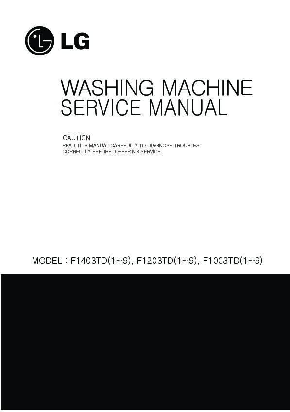 Lg F1003td Service Manual