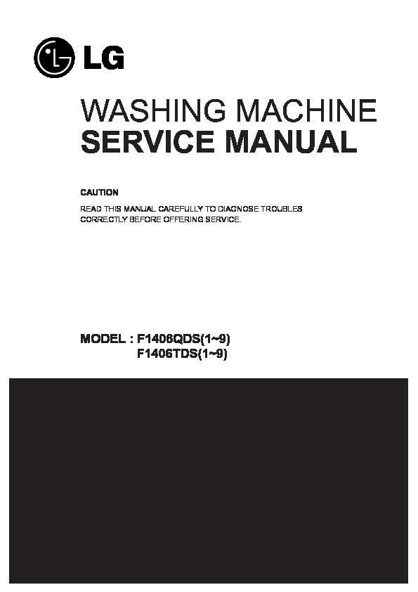 Lg F1406tds Service Manual