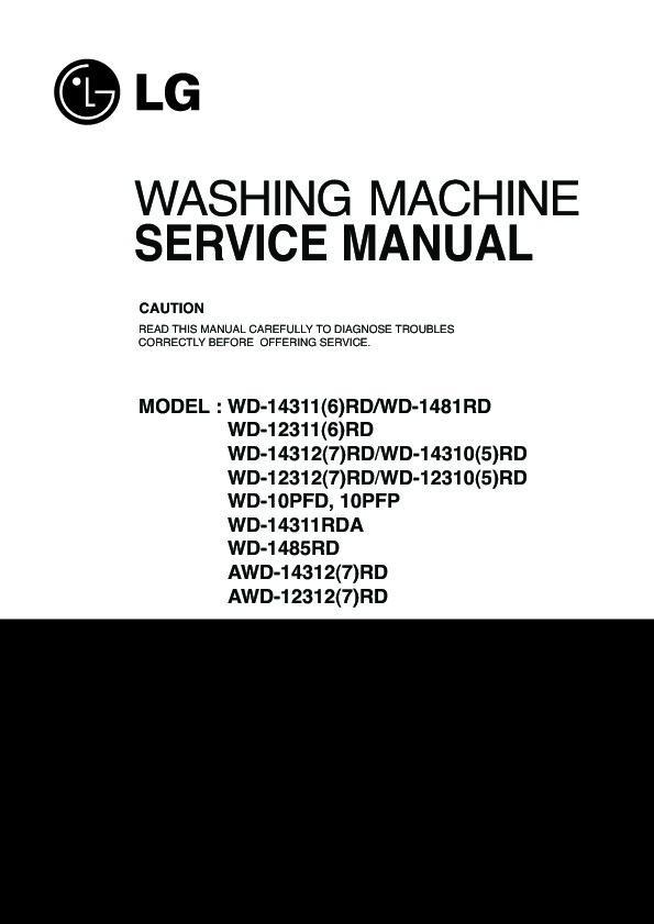 lg wd 14313rd service manual free download rh servicemanuals us lg tromm washing machine service manual lg washing machine owner's manual