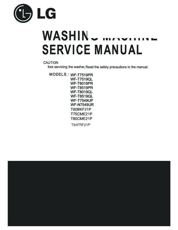 Lg Wf-t8019pr Service Manual
