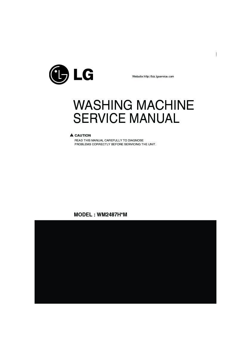 Lg Wm2487hwm Service Manual