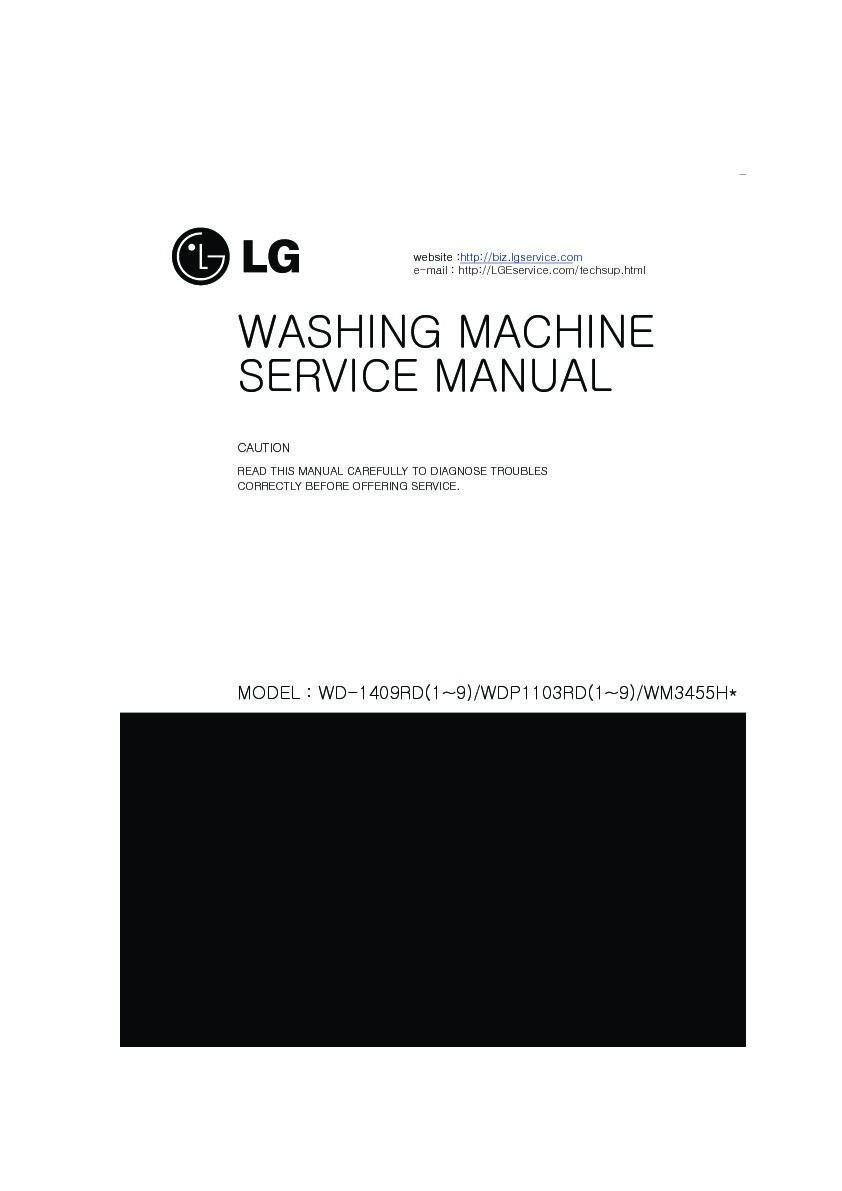 Lg Wm3455hw Service Manual