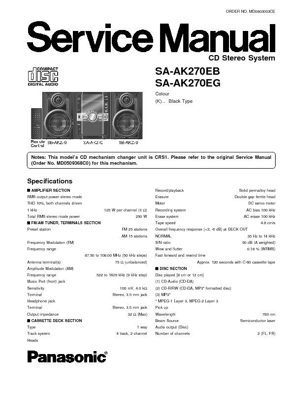 panasonic sa-ak27  serv man2  service manual