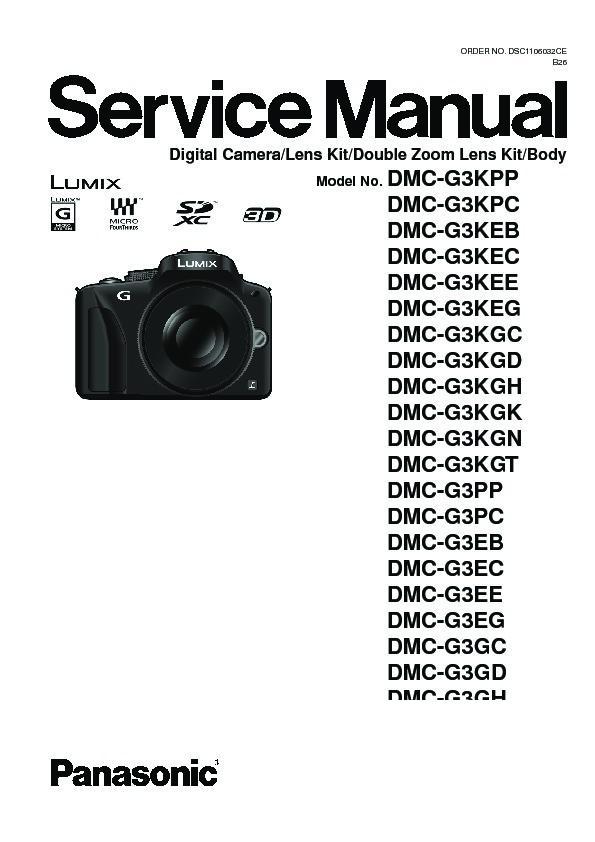 panasonic dmc g3kee service manual free download rh servicemanuals us Panasonic TV Manual panasonic camera owners manual