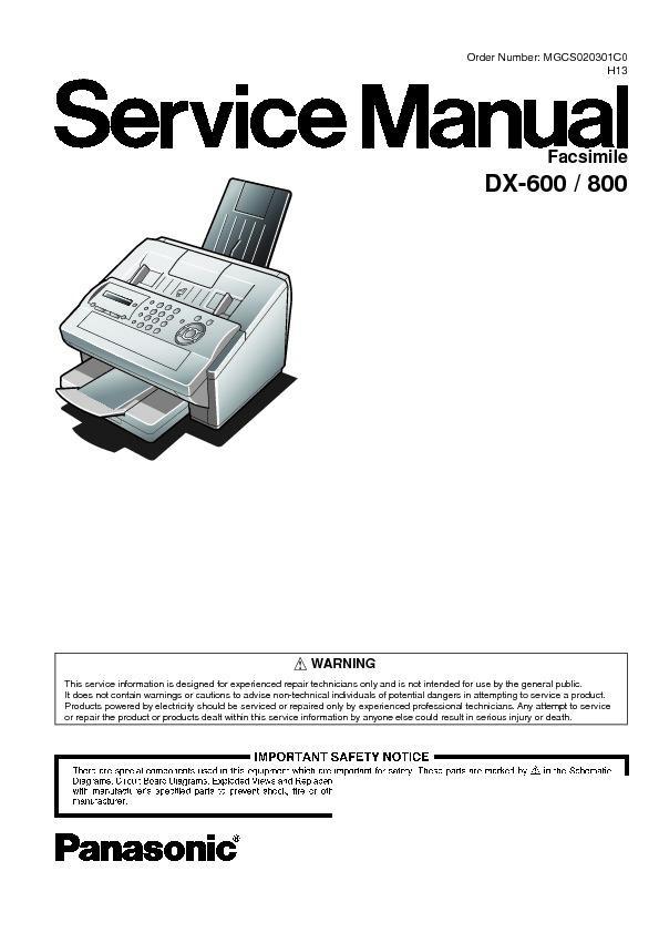 panasonic fax service manuals free download rh servicemanuals us Panasonic Phone Fax Machines Panasonic Fax Machine Troubleshooting