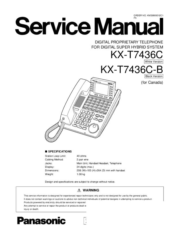 panasonic pbx wiring diagram panasonic kx t7436c  kx t7436c b service manual free download  panasonic kx t7436c  kx t7436c b