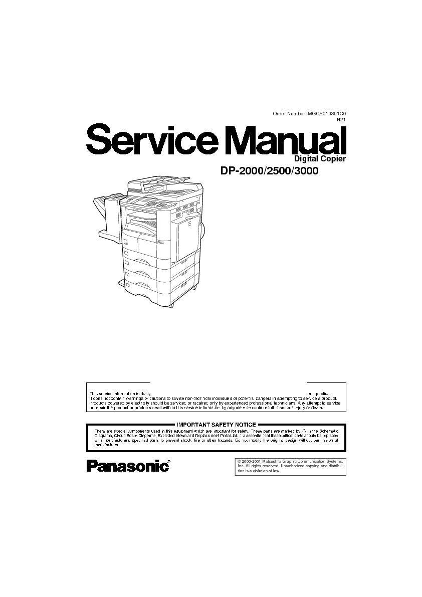 panasonic dp 2000 dp 2500 dp 3000 service manual free download rh servicemanuals us Panasonic FP 7728 Copier Panasonic FP 7728 Copier