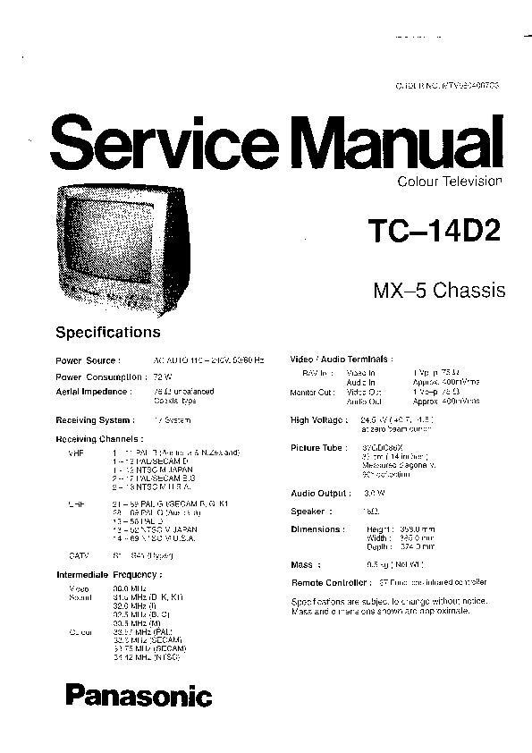 Panasonic Tv Service Manuals Free Download border=