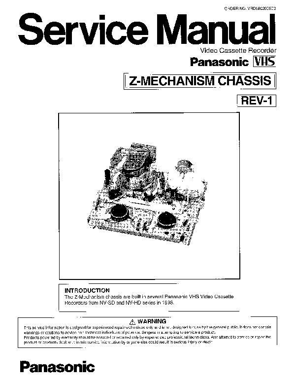 panasonic nv-sv120eb  nv-sv120ec  nv-sv120ep  z-mechanism  mechanism service manual