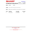 Sharp AE-A126E Technical Bulletin