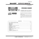 Sharp CD-BA1200 (serv.man6) Service Manual