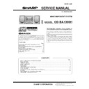 Sharp CD-BA1300 (serv.man11) Service Manual