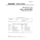 Sharp CD-BA1300 (serv.man4) Parts Guide
