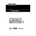 Sharp CD-BA1300 User Guide / Operation Manual