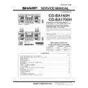 Sharp CD-BA1700 (serv.man10) Service Manual