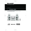 Sharp CD-BA1700 User Guide / Operation Manual