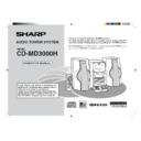 Sharp CD-MD3000 User Guide / Operation Manual