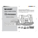 Sharp CD-RW5000 User Guide / Operation Manual
